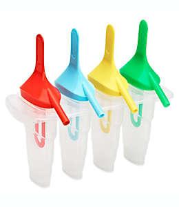 Moldes para paletas de hielo con popote, Set de 4