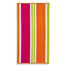 image of Multi-Stripe Jacquard Beach Towel