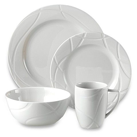 Lenox® Vibe™ Dinnerware Collection  sc 1 st  Bed Bath u0026 Beyond & White Dinnerware Porcelain Dinnerware Sets | Bed Bath u0026 Beyond
