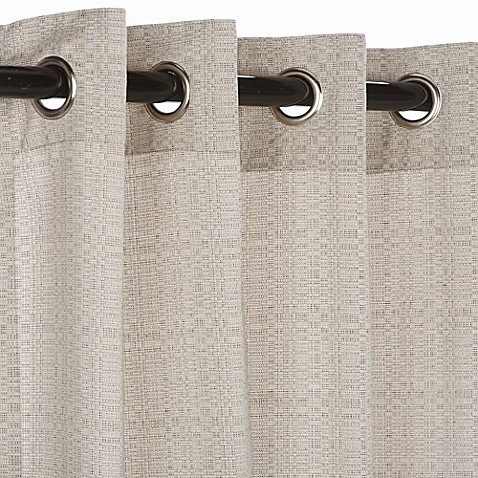 Buy Pawleys Island Sunbrella 108 Inch Grommet Top Outdoor Curtain Panel In Silver From Bed