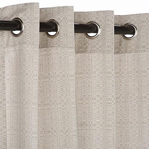 Buy Pawleys Islandu00ae Sunbrellau00ae 120Inch Grommet Top Outdoor Curtain Panel in Silver from Bed