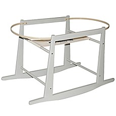 image of Jolly Jumper® Rocking Moses Basket Stand in Grey