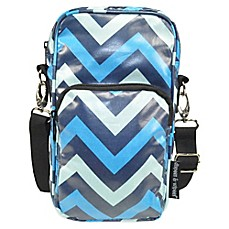 image of Diapees & Wipees® Laminated Hipster Bag in Blue Chevron
