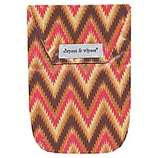 image of Diapees & Wipees Laminated Storage Bag with Wipes Case in iKat Chevron