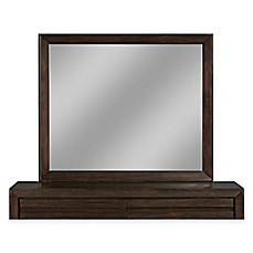 image of modus furniture element 51inch x 43inch rectangular wall mirror in
