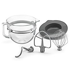 image of KitchenAid® 6-Quart Glass Bowl with Lid and Mixing Tools