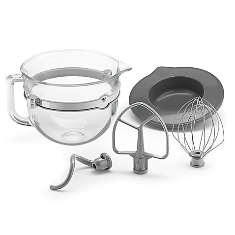Kitchenaid 174 6 Qt Glass Bowl With Lid And Mixing Tools