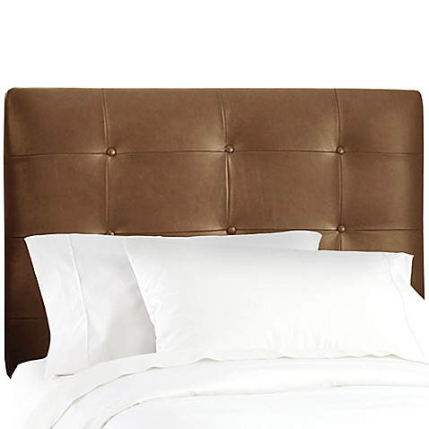 Buy Skyline Furniture Button Tufted Full Headboard In Sonoran Saddle Brown From Bed Bath Beyond