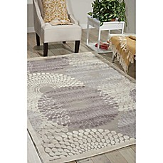 Image Of Nourison Graphic Illusions Machine Woven Area Rug In Grey