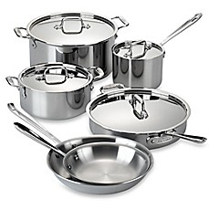image of All-Clad Stainless Steel 10-Piece Cookware Set