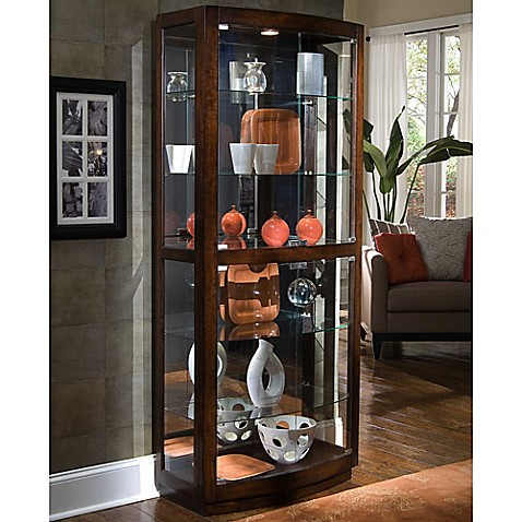 image of Pulaski Curio in Pacific Heights Brown - Curio Cabinets - Bed Bath & Beyond