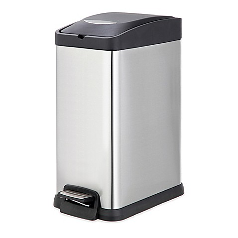 stainless steel kitchen trash can stainless steel rectangular 15 liter pedal trash bin bed 12040
