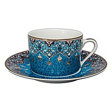 image of Philippe Deshoulieres Dhara Tea Cup in Peacock Blue