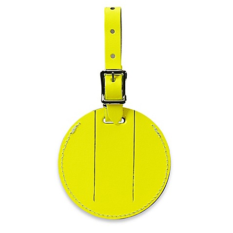 Neon Security Bonded Leather Id Luggage Tag Bed Bath