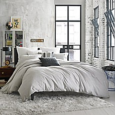image of Kenneth Cole Reaction Home Element Reversible Duvet Cover in Grey Mist