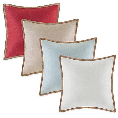 Bed Bath And Beyond Red Throw Pillows : Linen Square Throw Pillow - Bed Bath & Beyond
