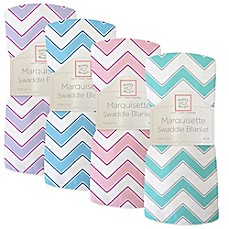 image of SwaddleDesigns® Chevron Marquisette Swaddle Blanket
