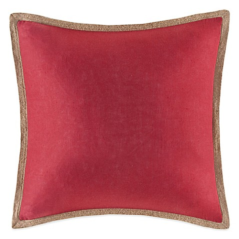 Buy Linen Square Throw Pillow in Red from Bed Bath & Beyond