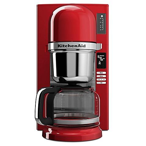 Red Kitchenaid Coffee Maker