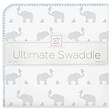 image of Swaddle Designs® Elephant & Chicks Ultimate Swaddle in Blue