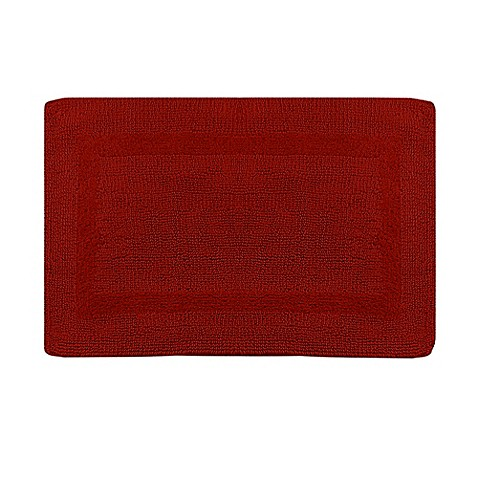 Buy Wamsutta Reversible 24 Inch X 40 Inch Bath Rug In Red From Bed Bath Beyond