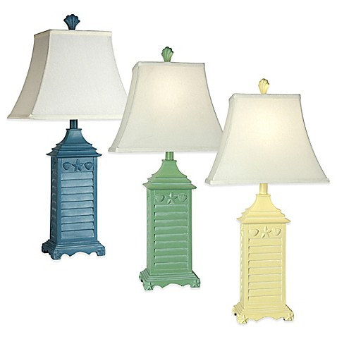 Coastal Shutter Table Lamp Collection - Bed Bath & Beyond