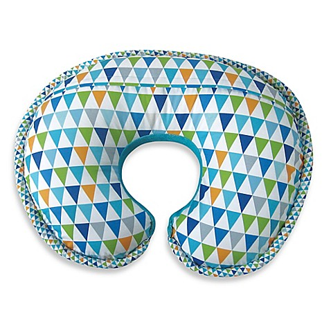 Boppy 174 Luxe Pillow With Reversible Slipcover In Happy