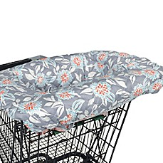 image of Balboa Baby® Shopping Cart and High Chair Cover in Grey Dahlia