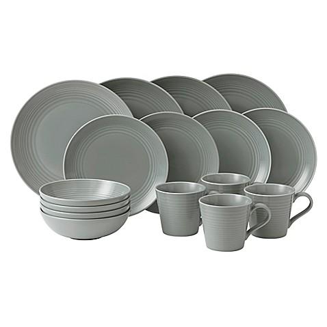 Gordon Ramsay By Royal Doultonu0026reg; Maze 16 Piece Dinnerware Set In Dark  Grey