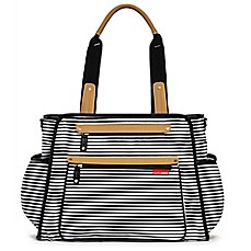 image of SKIP*HOP® Grand Central Take-it-All Diaper Bag in Black Stripe