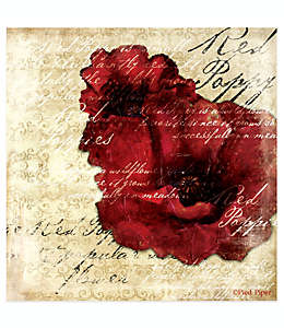 Thirstystone® Occasions Portavasos cuadrado Red Poppy