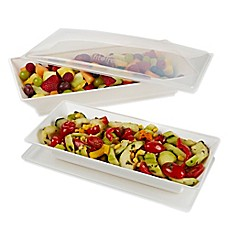 image of Fit & Fresh® Chilled Serving Platters (Set of 2)
