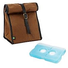 image of Fit & Fresh® Classic Insulated Lunch Bag with Ice Pack in Brown