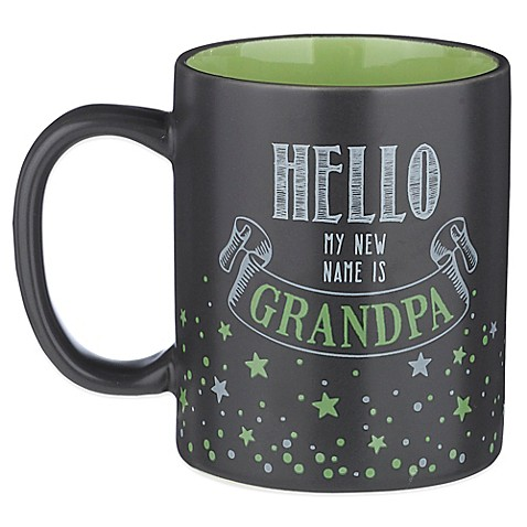 Grasslands road 12 oz hello my new name is grandpa for Grasslands road mugs