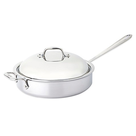All Clad Stainless Steel 4 Qt Saut 233 Pan With Domed Lid