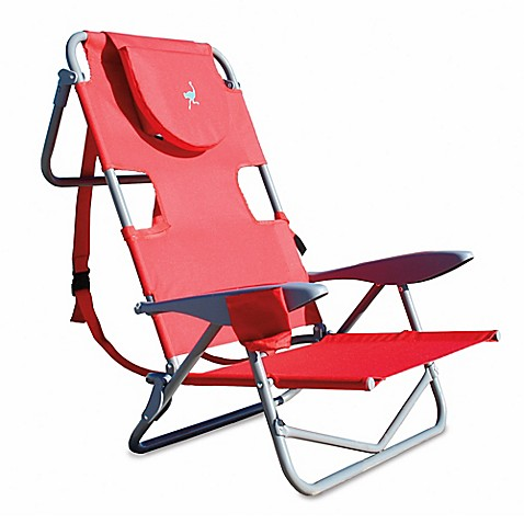 Buy Ostrich Reclining Beach Chair In Red From Bed Bath