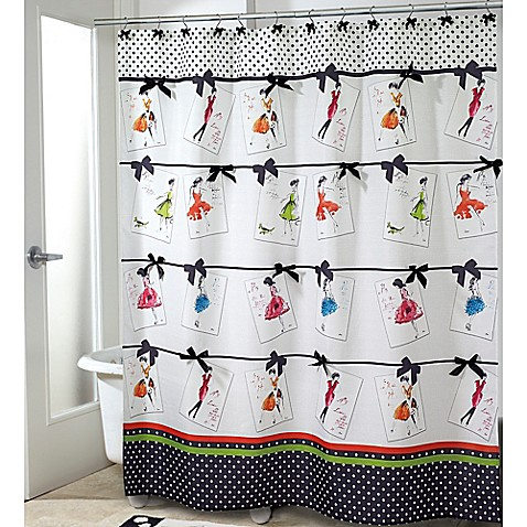 avanti couture girls shower curtain bed bath beyond