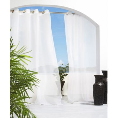 Cote D39 Azure Grommet Top Semi Sheer Indoor Outdoor Window Curtain