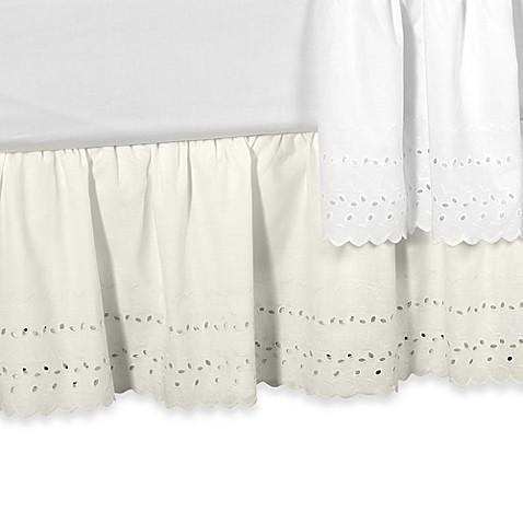 elizabeth eyelet daybed bed skirt - bed bath & beyond