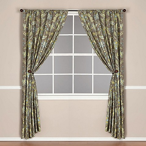 World Marketreg Tamara Lined Rod Pocket Window Curtain Panel