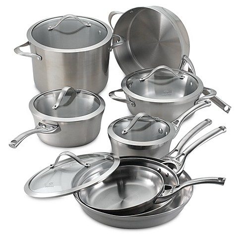 calphalon stainless steel 13piece cookware set bed bath u0026 beyond