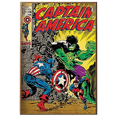 Captain America And Hulk Wall D Cor Plaque Bed Bath Beyond