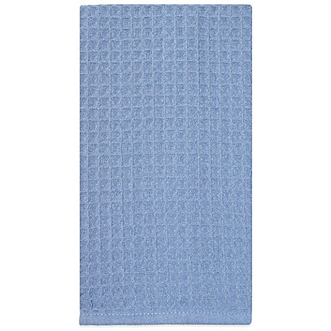 Buy Waffle Microfiber Kitchen Towel In Blue From Bed Bath Beyond