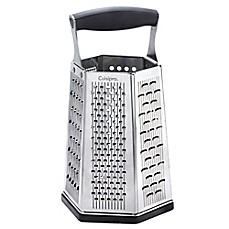 image of Cuisipro Surface Glide Technology 6-Sided Boxed Grater with Bonus Ginger Grater