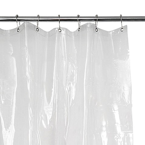EVA 54-Inch x 78-Inch Vinyl Shower Curtain Liner in Clear - Bed ...