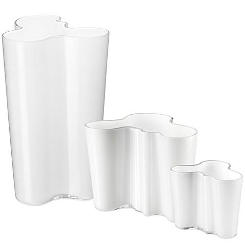 iittala alvar aalto vase in white bed bath beyond. Black Bedroom Furniture Sets. Home Design Ideas