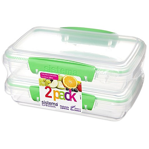 Buy Sistema 174 Klip It 174 12 8 Oz Rectangular Accents Food