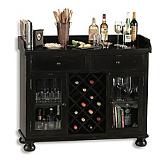image of howard miller cabernet hills wine u0026 bar cabinet in worn black