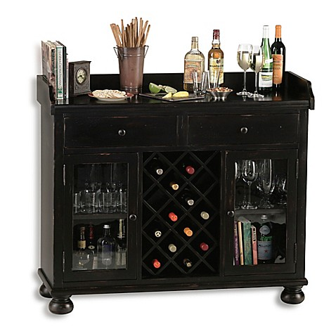 Howard miller cabernet hills wine bar cabinet in worn for How to build a wine bar