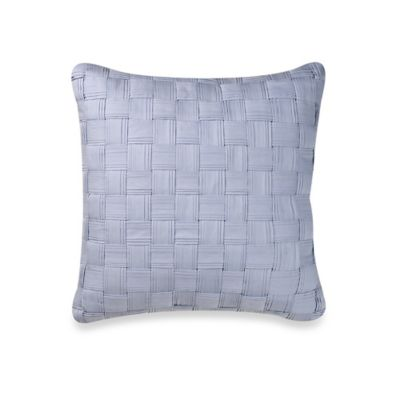 Blue Lattice Throw Pillow : Buy Real Simple Lattice Square Throw Pillow in Blue from Bed Bath & Beyond
